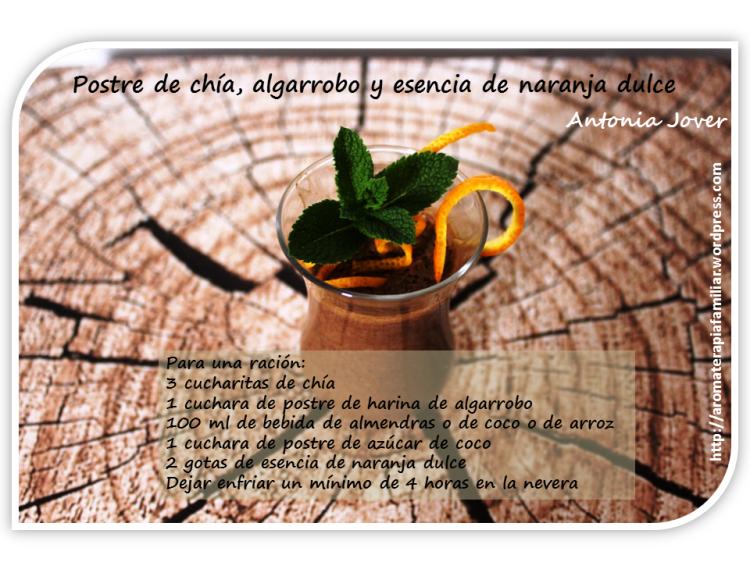 Postre chia y ae naranja dulce